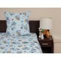 Комплект постельного белья 1,5спальное Бязь 120гр НН Совушки голубой 1 наволочка