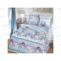 Комплект Постельного Белья 1.5 спальный бязь протыня на резинке Романтика