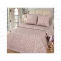 Комплект Постельного Белья 1,5 спальный Поплин-жаккард Латте (простыня на резинке)