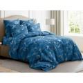Комплект постельного белья 2,0спальное с евро прост. Поплин 120гр НН Валентинка (синий)