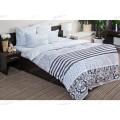 Комплект постельного белья 2,0спальное с евро простынь  Поплин 120гр НН Мадрид (серый)