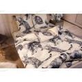 Комплект постельного белья 2,0спальный с евро прост. Поплин 120гр НН Барсик