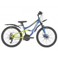 "Велосипед 24"" 21ск RUSH HOUR FS 480 DISC ST синий рама 13&quotВ, 252114"