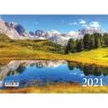 Календарь кварт. 2021 ФС 3греб. Альпийские горы,26745*23