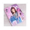Блокнот  Darvish Модная девочка  с замком в под. уп. DV-9452