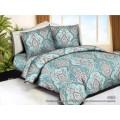 Комплект постельного белья  2,0спальный полисатин с европростыней  5D 4965