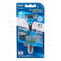 DORCO Pace CROSS 3  бритвенный станок + (5 кассет CROSS) с 3 лезвиями, TRC 1005   *6/36