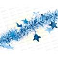 """Мишура &quotЗвездопад"""" 1,8м, d 7см, цвет:небесно-голубой, MY-8112    АТМ"""